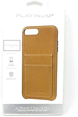 pick up 7e0ba ebcb8 Amazon.com: Platinum Genuine American Leather Wallet Case Apple ...