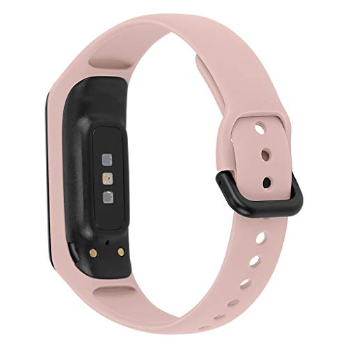 HankuSmall Silicone Replacement Watch Band Wrist Strap for Samsung Galaxy fit-e R375 (Pink)