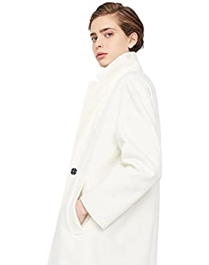 Mango Women's Unstructured Wool Coat