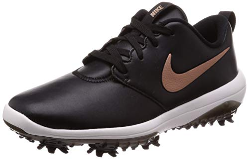 Nike Roshe G Tour Golf Shoes 2019 Women Black/Metallic Red Bronze/Summit White Wide 7