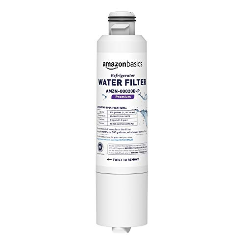 AmazonBasics Replacement Samsung DA29-00020B Refrigerator Water Filter - Premium Filtration