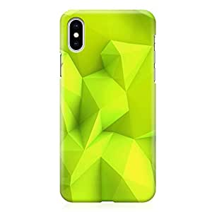 Loud Universe Phone Case For iPhone XS Max with Wrap around Edges Green Noen Geometrical Phone Case Geometry Pattern 3D Phone Cover