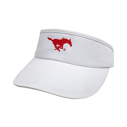 Ouray Sportswear NCAA SMU Mustangs Unisex Performance Tour VisorPerformance Tour Visor, White, Adjustable