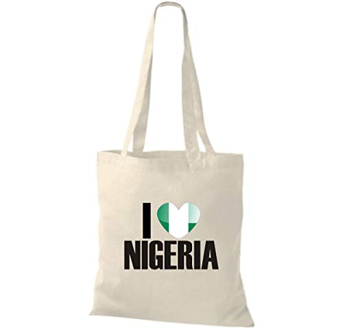 De Algodón Natural Love Bolsa Países I Tela Land Nigeria fwOdESgq