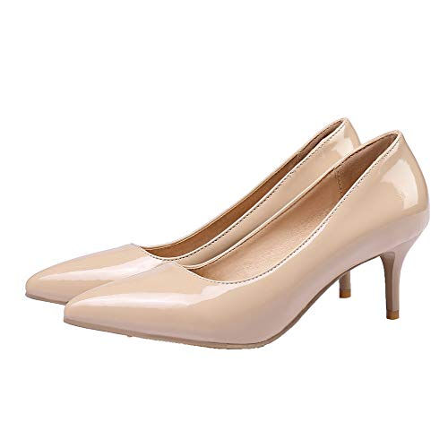 Tirare Flats Donna Ballet Tacco Puro Luccichio Nudo GMMDB006043 AgooLar Medio 6O5qff