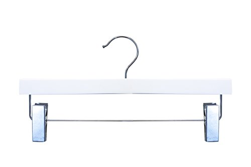 NAHANCO 20514RC Wooden Pant/Skirt Hanger, 14'', High Gloss White Finish (Pack of 100) by NAHANCO