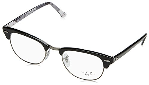 Ray-Ban Clubmaster Square Eyeglasses, Tortoise, 49 - Prescription Ray Ban