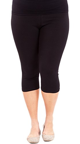 Capri Elastic Waist Leggings - 6
