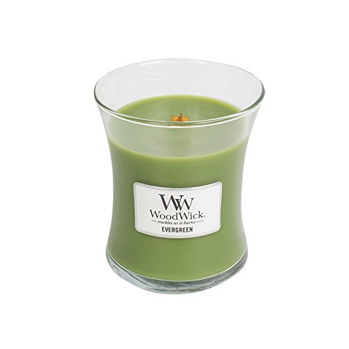 WoodWick Evergreen Hourglass Christmas Medium Candle 9.7 Oz