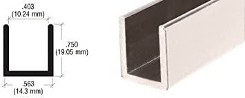 CRL níquel pulido sin Marco para mampara de ducha de aluminio Deep ...