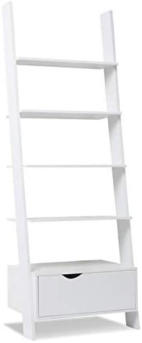 IDMarket – Estantería escalera escandinava madera blanca: Amazon.es: Bricolaje y herramientas