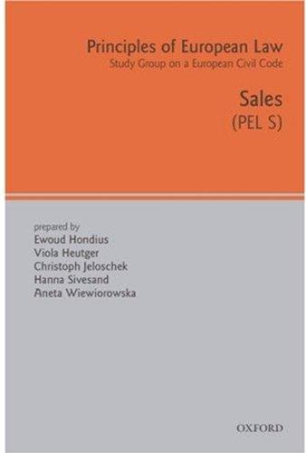 Principles of European Law: Volume Five: Sales Contract (European Civil Code)