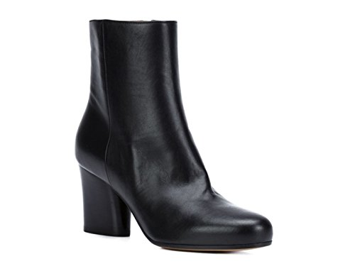 Maison Margiela Heels Ankle Boots in Black Leather - Model Number: S38WU0324 SY0087 Black