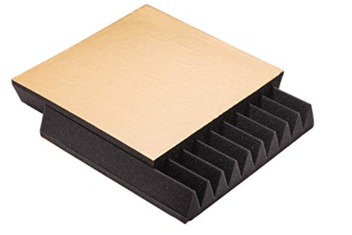Soundproofing Acoustic Panels with adhesive for sound absorbing & insolation, Studio Foam wedges 12