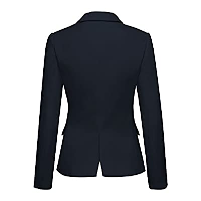 ACKKIA Women Business Casual Notched Lapel Pocket Work Office Blazer Jacket Suit at Women's Clothing store