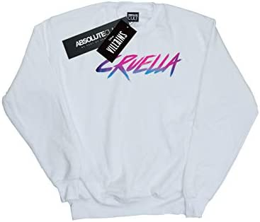 Disney Herren Rad Cruella Sweatshirt Weiß Large