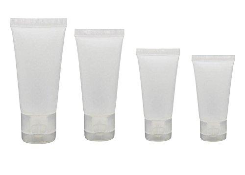 20PCS 100ml Refillable Empty Plastic Tubes Bottle Packing Sample Bottles Jars Makeup Container For Shampoo Cleanser Shower Gel Body Lotion (100ml)