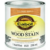 - CabotStain 144-8123 HP 1/2 Pint Colonial Maple Interior Oil Wood Stain 0.5 pt