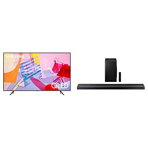 SAMSUNG Q60T Series 85-inch Class QLED Smart TV | 4K, UHD Dual LED Quantum HDR | Alexa Built-in + HW-Q70T 3.1.2ch Soundbar with Dolby Atmos/DTS:X (2020)