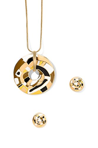 enamel-earrings-cut-out-circle-necklace-set-snake-chain-with-pendant-round-studs-3