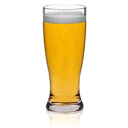 Libbey Indoors Out Break-Resistant Craft Brews Pilsner Beer Glasses, 14-ounce, Set of 4