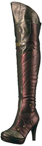 Ellie Shoes Women's 414-Wonder Boot, Red, 8 US/8 M US -