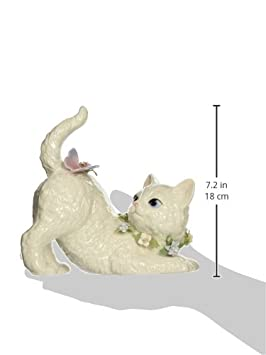 Cosmos SA49116 Fine Porcelain Cat Watching Butterfly Musical Figurine, 7-1 8-Inch