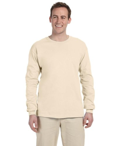 - Fruit of the Loom 5 oz.Heavy Cotton HD Long-Sleeve T-Shirt (4930) -Natural -S