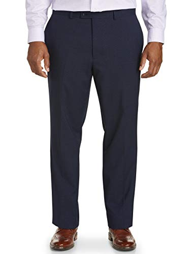 Jack Victor Big and Tall Reflex Mix Non-Solid Suit Pants