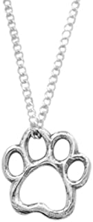 product image for Rockin Doggie Sterling Silver Necklace, Cut Out Paw