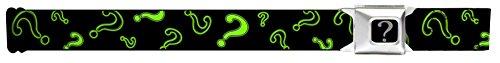 Question Mark Scattered2 Black/neon Green Seatbelt Belt