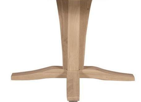 Hardwood Dining Table Pedestal ()