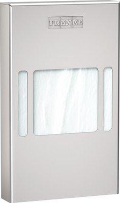 Franke dispensador de bolsas higiénicas RODX191 de cromo y níquel de acero para montaje empotrado