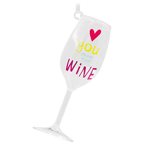 Hallmark Love You More Than Wine Ornament Eat & Drink