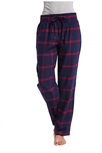 CYZ Women's 100% Cotton Super Soft Flannel Plaid Pajama/Louge Pants-F17019-L