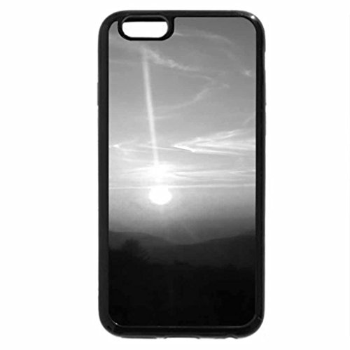 iPhone 6S Plus Case, iPhone 6 Plus Case (Black & White) - Paysage Flou Et Soleil