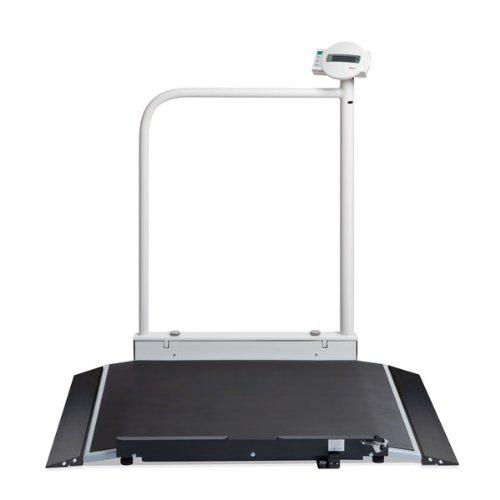 Silla de Roll seca 677 báscula digital con barandilla y ruedas de transporte, capacidad: Amazon.es: Salud y cuidado personal