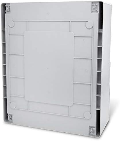 Bo/îtier industriel IP65 avec plaque de montage galvanis/ée 400 x 600 x 200 mm Porte avec joint circonf/érentiel Armoire /électrique avec verrouillage KOOP Elektro Armoire de distribution ABS