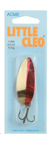 - Acme Little Cleo Fishing Terminal Tackle, 2/5-Ounce, Gold Neon Red