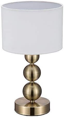Jinzo Portable Touch Table Lamps Small Accent Bedside Lamps For Bedrooms With Touch Sensor Dimmable Antique Brass Finished Amazon Com