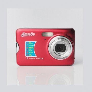 Amkov 1600Mpx 8x Digital Zoom 2.7inch Digital Camera CDFE - Black