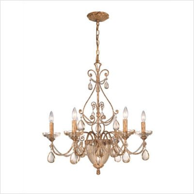 Crystorama Tuscany Chandelier - 27.5W in. Etruscan Gold