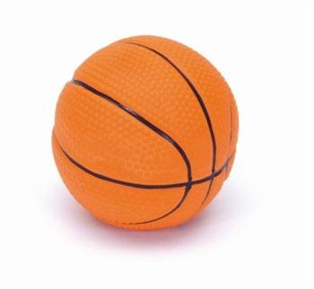 Coastal Latex Basketball Dog Toy 2.5