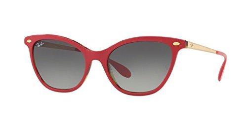 Ray-Ban Women's Acetate Woman Cateye Sunglasses, Top Bordeaux on Havana G, 54 - Red Ban Ray