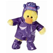 Price comparison product image Mary Meyer Silly Slickers - Plush Duck in Monkey Rain Gear - 11""