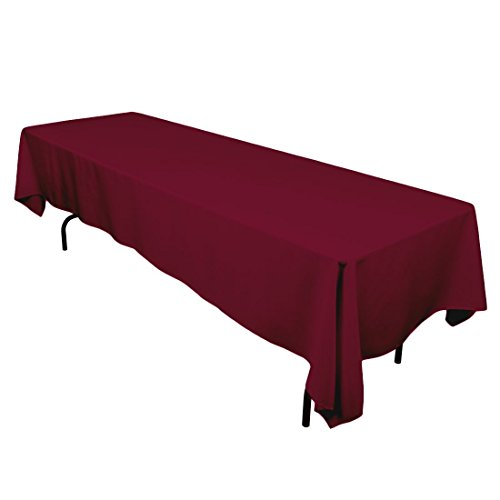 Gee Di Moda Rectangle Tablecloth - 70 x 120 Inch - Burgundy Rectangular Table Cloth in Washable Polyester - Great for Buffet Table, Parties, Holiday Dinner, Wedding & More]()
