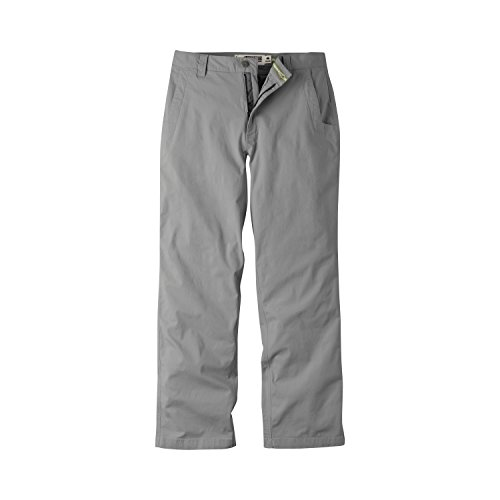 Mountain Khakis Mens Pants: All Mountain Pant Relaxed Fit - Mid-Rise Stretch Organic Cotton Canvas, Gunmetal, 36W 36L