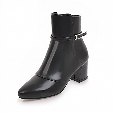 US5 For Fall Ankle Boots Fashion Booties Pu Boots Pointed Boots EU35 CN34 Leatherette Heel Toe RTRY Buckle Shoes Comfort UK3 Chunky Winter Novelty Party Women'S AInaqT1wxH