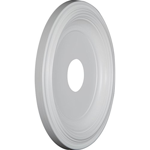 Ekena Millwork CMP16TR Traditional Thermoformed PVC Ceiling Medallion, 16''OD x 3 1/2''ID x 1 3/8''P (Fits Canopies up to 9 1/2''), White by Ekena Millwork (Image #1)