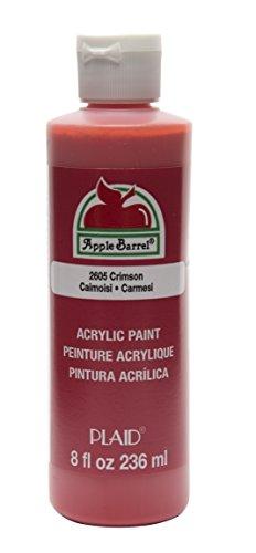 Crimson Plaid - Apple Barrel Acrylic Paint in Assorted Colors (8 oz), K2605 Crimson